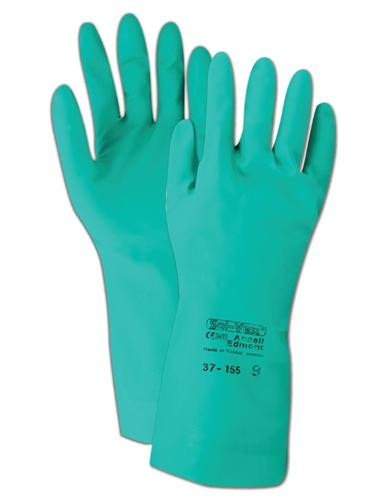Ansell 15 mil Sol-Vex Nitrile Unlined Gloves with Straight Cuff. Shop Now!