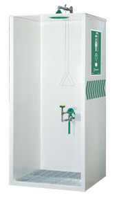 Haws 8605WC AXION® MSR Booth Enclosed Shower and Eye/Face Wash. Shop Now!