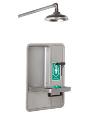 Haws 8356WCW Barrier Free Recessed Shower and Eye Face Wash