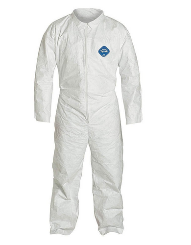 Dupont Tyvek TY120S Chemical Resistant White Coveralls with Open Wrists and Ankles. Shop now!