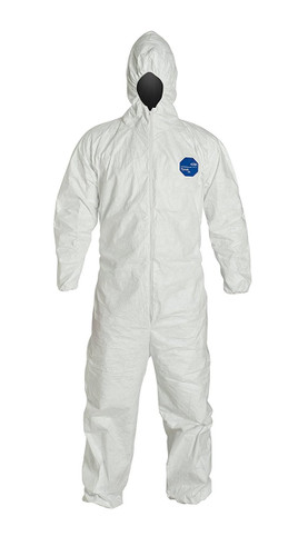 Buy Ty127S Tyvek Disposable Coverall with attached Hood by the case and SAVE up to 40%!   The extra layer of hood protects your head from particulates and light liquid splash.