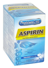 First Aid Only 90014 Physicians Care Aspirin Tablets - 50/box. Shop Now!