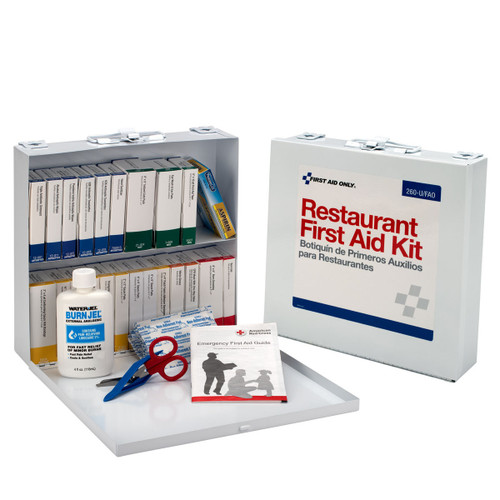 First aid only 260 u fao 75 person restaurant first aid for First aid kits for restaurant kitchens