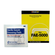 """First Aid Only FAE-5000 SC Refill 2""""x2"""" Sterile Gauze Pads, 10/bag. Shop Now!"""