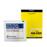 """First Aid Only FAE-5005 SC Refill 3""""x3"""" Sterile Gauze Pads, 10/box. Shop Now!"""