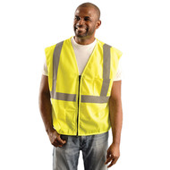 "OK S1L Classic Mesh Standard Vest with 2"" Silver Reflective Tape available in Yellow Color. Shop now!"