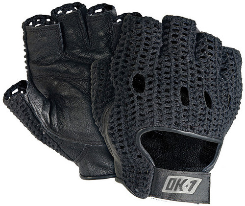 OK 1 Classic Knuckle Lifter Gloves-Pair with Leather Padded Palm available in Black Color. Shop now!