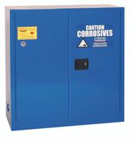 Eagle CRA3010X Acid & Corrosive Metal Safety Cabinet, 30 Gal., 1 Shelf, 2 Door, Self Close, Blue