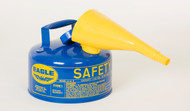 Buy Eagle UI-10-FSB 1 Gal Blue Type I Safety Can w/ F-15 Funnel today and SAVE up to 25%.