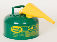 Buy Eagle UI-20-FSG 2 Gal Green Type I Safety Can w/ F-15 Funnel today and SAVE up to 25%.