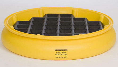 Buy Eagle 1615 Poly Drum Tray (Yellow) with Grating (Black) today and SAVE up to 25%.