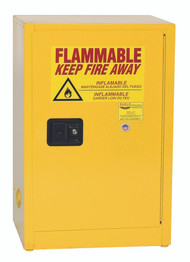 Buy Eagle 1924X Space Saver Flammable Liquid Safety Cabinet, 12 Gal., 1 Shelf, 1 Door, Self Close, Yellow today and SAVE up to 25%.