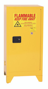 Buy Eagle 1906XLEGS Tower Space Saver Safety Cabinet, 16 Gal., 1 Shelf, 1 Door, Manual Close, Yellow and save!