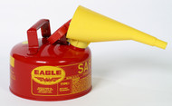 Buy Eagle UI-10-FS 1 Gal Red Type I Safety Can w/ F-15 Funnel today and SAVE up to 25%.