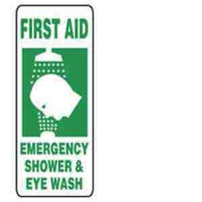 Accuform Mfsd996 First Aid Emergency Shower And Eye Wash Sign