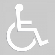 Accuform Wheelchair Pictorial - Floor Marking Stencils. Shop now!