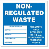 Accuform HZW14 Non Regulated Waste Labels. Shop now!