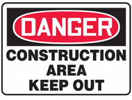 Accuform MADM014 Construction Area Keep Out Danger Sign. Shop now!