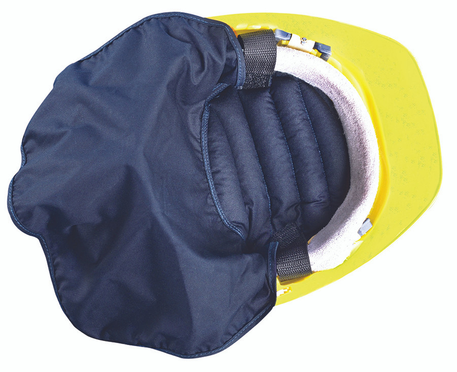 94cb77dd131 Loading zoom. Occunomix 969 MiraCool Hard Hat Pad with Neck Shade available  in Blue Color. Shop now