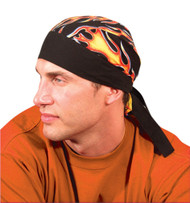 ON-TN5 Tie Hat Doo Rag made from 100% absorbent cotton fabric available in Big Flame design. Shop now!