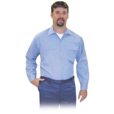 Steel Grip MBV69575 Medium Blue Button Front Vinex Shirt. Shop now!