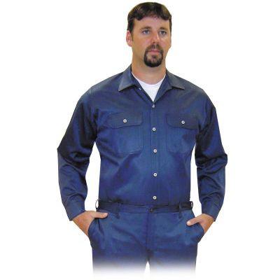Steel Grip NBV89575 Navy Blue Button Front Vinex Shirt. Shop now!