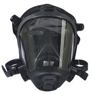 Survivair 763100 Opti-Fit Tactical Gas Mask Facepiece w/ Mesh Headnet as shown in Front view. Shop now!