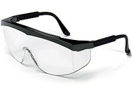 Stratos nylon black frame, clear uncoated lens