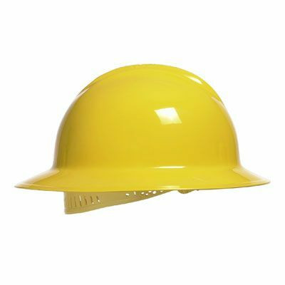 Bullard C33R Full Brim Hard Hat as Shown in Yellow. Shop now!