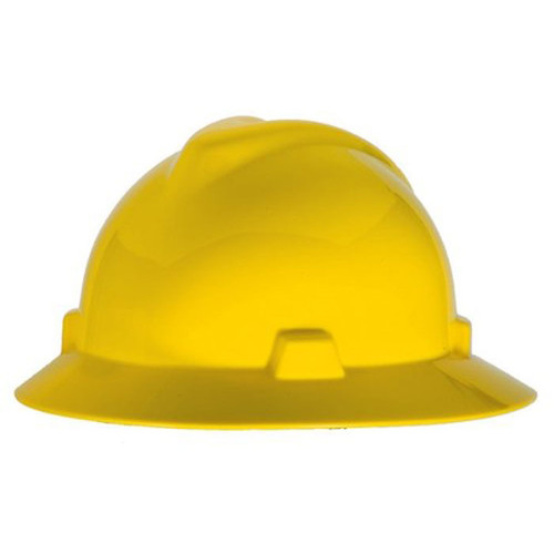 MSA 454730 HAT, V-GARD, STAZ-ON, YELLOW