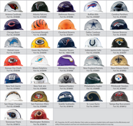 MSA Officially Licensed NFL V-Gard Protective Caps