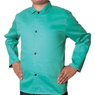 Weldas 30 Inch 9oz. Cotton FR Green Jacket. Shop now!