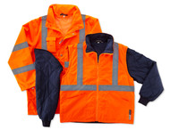 Ergodyne 8385 GloWear Class 3 Four in One Jacket in Orange. Shop now!