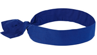 Ergodyne 6700 Chill Its Evaporative Cooling Bandana- Tie in Solid Blue. Shop now!