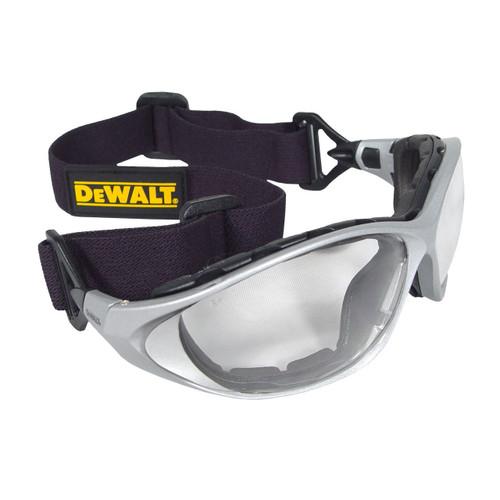 DeWalt DPG95 Framework Safety Glass (Clear Lens, Elastic Head Strap). Shop now!