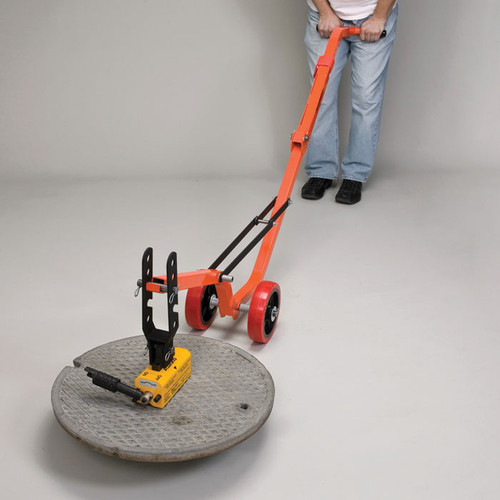 & Allegro 9401-26 Magnetic Manhole Lid Lifter Steel Dolly and Magnet