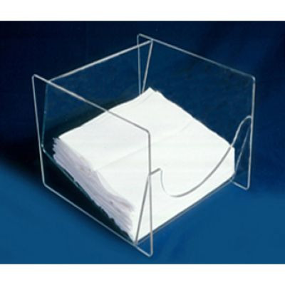 AK-106  Countertop Design Wipe Holder with Slanted Interior available in Clear and White, with or without Lid. Shop Now!