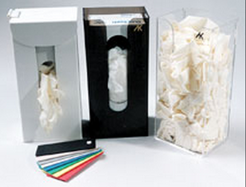 AK-778 Standard Box Glove Dispenser. Available in White, Clear and Black. Shop now!