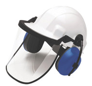 Safety cap, bracket, face shield and earmuffs all sold separately.