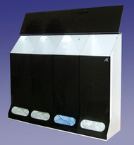 AK-JN4 4 Compartment Multi Purpose Dispenser. Available in Smoke and Clear. Shop Now!
