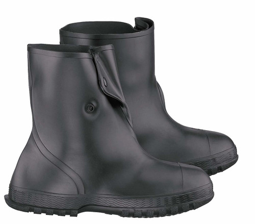 Onguard 86020 PVC 10 Inch Black Overshoe w/ 4-Way Cleated Outsole