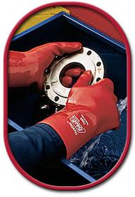 Showa 724R-10 Hustler PVC Coated Abrasion Resistant Glove. Shop now!