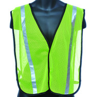 Lime Mesh Safety Vest with Sliver Reflective Strip. Shop Now!
