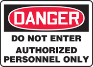 Accuform MADM141 Danger Do Not Enter Authorized Personnel Only Sign. Shop now!