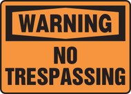 Accuform MADM304 Warning No Trespassing Sign. Shop now!