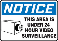 Accuform MASE807 Notice This Area Is Under 24 Hour Video Surveillance Sign. Shop now!