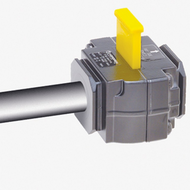 Accuform KDD464 1/2 Inch In-Line Pneumatic Valve Lockouts. Shop now!