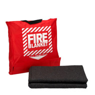 "First Aid Only 21-650 62""x80"" Wool Fire Blanket in Hanging Pouch"