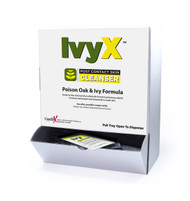 IvyX Post-Contact Poison Oak & Ivy Cleanser Single Dose Towellete Foil Pack available in Wallmount Dispenser Box. Buy now!