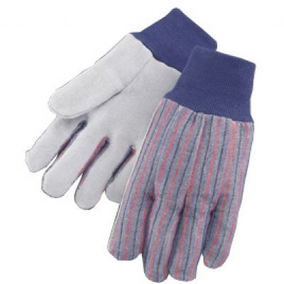 Full Cotton Back Leather Work Gloves. Shop Now!